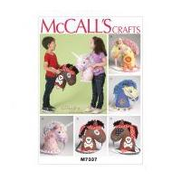 McCalls Crafts Easy Sewing Pattern 7337 Playtime Ponies & Unicorn