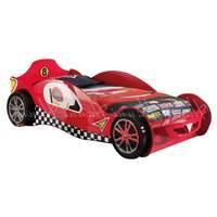McLaren Car Racer Bed and Mattress Red Cream