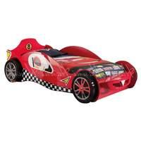 McLaren Car Racer Bed and Mattress Red Lime