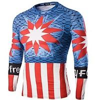 Men\'s Long Sleeve Bike Tops Breathable Comfortable Sports Summer Exercise Fitness Leisure Sports