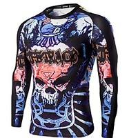 Men\'s Long Sleeve Bike T-shirt Tops Breathable Comfortable Sports Printing Summer Exercise Fitness Leisure Sports