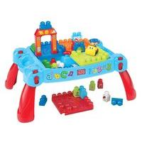 Mega Bloks First Builders 3 in 1 Build \'n Learn Table - Damaged