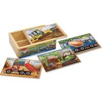Melissa & Doug Construction Vehicles Puzzles in a Box (3792)