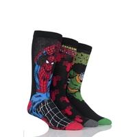 Mens 3 Pair SockShop Marvel The Amazing Spider-Man and Doctor Octopus Cotton Socks