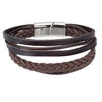 Men\'s Leather Bracelet Wrap Bracelet Jewelry Natural Fashion Leather Alloy Irregular Jewelry For Special Occasion Gift 1pc