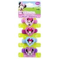 Minnie Mouse Pack Of 4 Hair Ponies