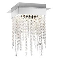 Modern Chrome Plated LED Ceiling Light with Strings of Crystal Glass Beads