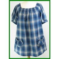 Moda by Mothercare - Size: 10 - Blue - Cotton maternity top
