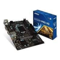 MSI 911-7A74-002 PRO VD Kaby Lake Micro Intel B250 DDR4 ATX Motherboard - Black