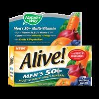 Nature\'s Way Alive! Men\'s 50+ Multi-Vitamin 30 Tablets - 30Tablets, Green