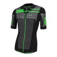 Nalini San Zeno Short Sleeve Compression Jersey - Black/Green - L-XL