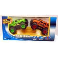New Bright 5 inch 4x4 Twin Pack - H2 Hummer (Orange) + Silverado (Green)