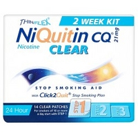 NiQuitin CQ® Clear 21 mg 14 Patches Step 1
