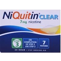 Niquitin CQ Clear 7mg Step 3 - 1 Week Kit