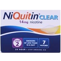 NiQuitin CQ Clear 14mg Step 2 - 1 Week Kit