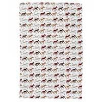 Nicky James Ponies Tea Towel