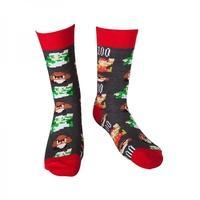 Nintendo Super Mario Bros. Men\'s Size 43/46 Mario Pixel Art Socks