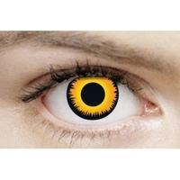 Orange Werewolf 3 Month Halloween Coloured Contact Lenses (MesmerEyez XtremeEyez)