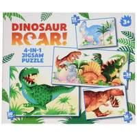 Paul Lamond 4-in-1 Dinosaur Roar Puzzle