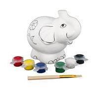 Paint Your Own Elephant Money Box 11 x 10 x 11 cm