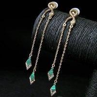 Pair of Gorgeous Rhinestone Geometric Earrings For Women