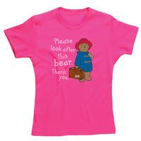 Paddington Bear Look After This Bear Skinny Fit T-Shirt - L