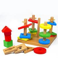 Pegged Puzzles For Gift Building Blocks Model Building Toy Square Wood 2 to 4 Years 5 to 7 Years Toys