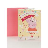 Peppa Pig Colour-In Happy Birthday Card For Daughter