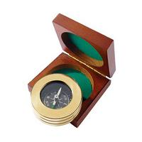 Personalised Brass Compass, Brass