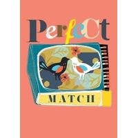 Perfect Match | Valentine\'s Day Card | BO1018