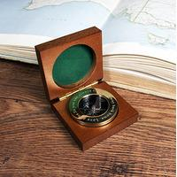 Personalised Compass in Wooden Box