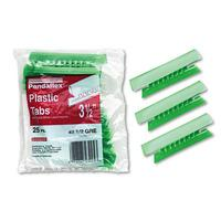 PENDAFLEX 43-1/2-GRE Hanging File Folder Tabs, 1/3 Tab, 3 1/2 Inch, Green Tab/White Insert, 25/Pack
