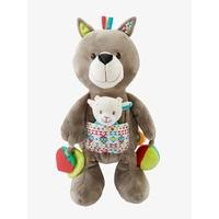 Plush Wolf Early Learning Soft Toy muticolour