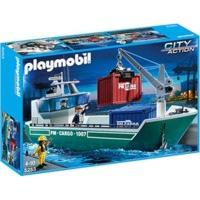 Playmobil Cargo Ship with Loading Crane (5253)
