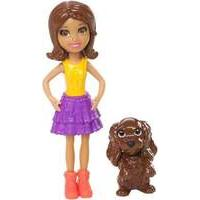 Polly Pocket Doll and Animal - Shani and Dog (dnb22)