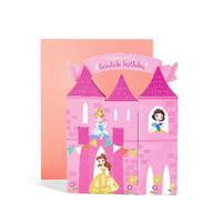 Pop-Up Disney Princess Castle Scene Birthday Card
