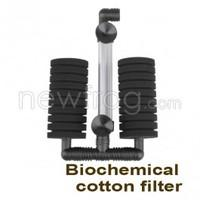 Practical Aquarium Biochemical Sponge Filter Fish Tank Air Pump With Suction Cup