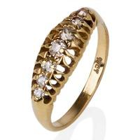 Pre-Owned 18ct Yellow Gold Old Cut Diamond Ring 4212717