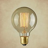 Pure Cupper Lamp Cap Retro Vintage E26 Artistic Filament Bulb Industrial Incandescent Light Bulb 40W