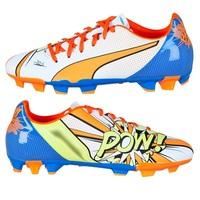 Puma evoPOWER 4.2 POP Firm Ground Football Boots - Kids White