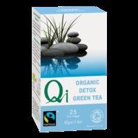Qi Teas Organic Fairtrade Green Detox Tea 25 Tea Bags - 25 Tea Bags, Green