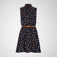 R1354 Parrot Shirt Dress