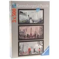 Ravensburger The Art Of The Cities (3x500pcs.)