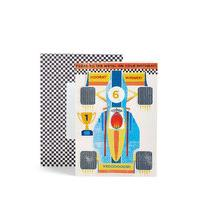 Racing Car Sticker Activity Birthday Card