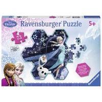 Ravensburger Disney Frozen Elsa\'s Snowflake 73 Piece Shaped Jigsaw Puzzle
