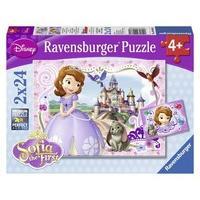 Ravensburger 09086 - Disney Sofia the First: Sofia\'s Royal Adventure - 2 x 24 Piece Jigsaw Puzzle