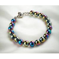Rainbow Haematite Bracelet with Magnetic Clasp