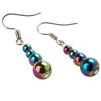 Rainbow Haematite Hook on Earrings