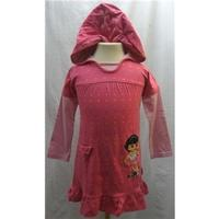 Reduced Almost New Dora the Explorer Pink Dress Nickelodeon - George - Size: 3 - 4 Years - Pink - Knee length dress