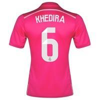 Real Madrid Away FIFA World Champions 2014 Shirt Pink with Khedira 6 p, Pink